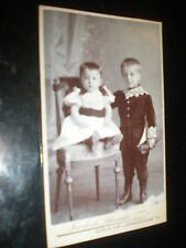 Cdv old photograph boy toy yacht by Schroeder Berlin Germany c1900s