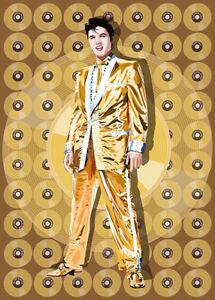 Elvis Presley - Gold Elvis - Original (signed) art print - Jarod Art