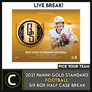 2021 PANINI GOLD STANDARD FOOTBALL 6 BOX HALF CASE BREAK #F784 - PICK YOUR TEAM