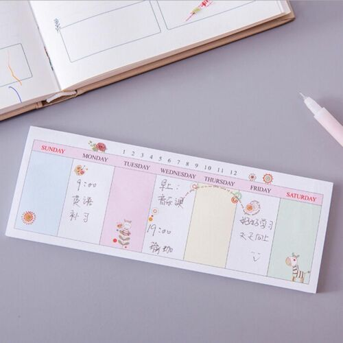 Weekly//Daily Planner Sticker Sticky Note Memo Pad Schedul Check List To Do LDIU