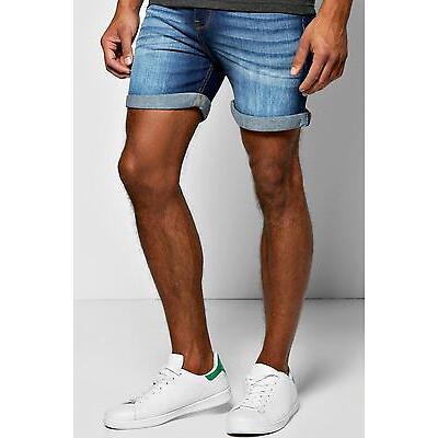 Boohoo shorts denim skinny en color índigo de largo corto para Hombre