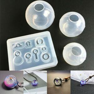 Transparent-Ball-pendentif-resine-moule-Set-Silicone-Epoxy-Mold-A-faire-soi-meme-Jewelry-Making