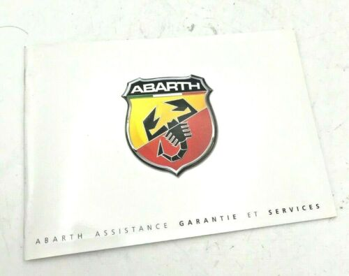 Genuine Brand New Abarth service entretien livre en français 60439278
