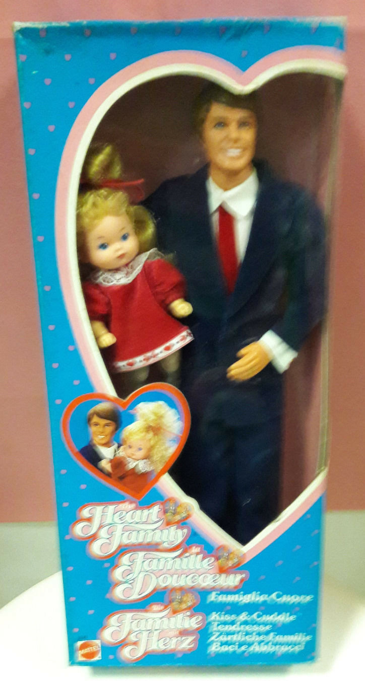 Mattel 3141 Heart Family kiss & cuddle dad & baby girl famiglia cuore
