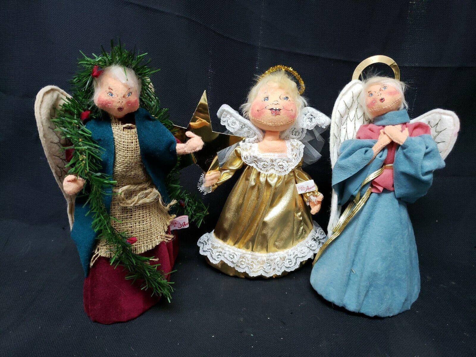 Annalee Dolls 12   Weihnachten Topper 1987, 1997 1996 3er Set Engel