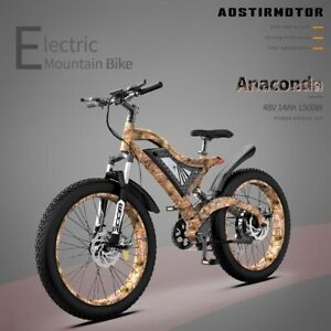 AOSTIRMOTOR Electric Bike S18 1500W Mountain Bicycle 48V 14Ah Removable