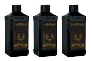 FemMas Argan & Keratin Shampoo 300ml Haarshampoo 3 Stück