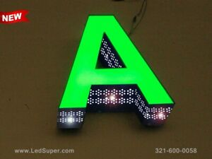 Details about New Led Channel Letters sign Front Lit and Side Lit - 12