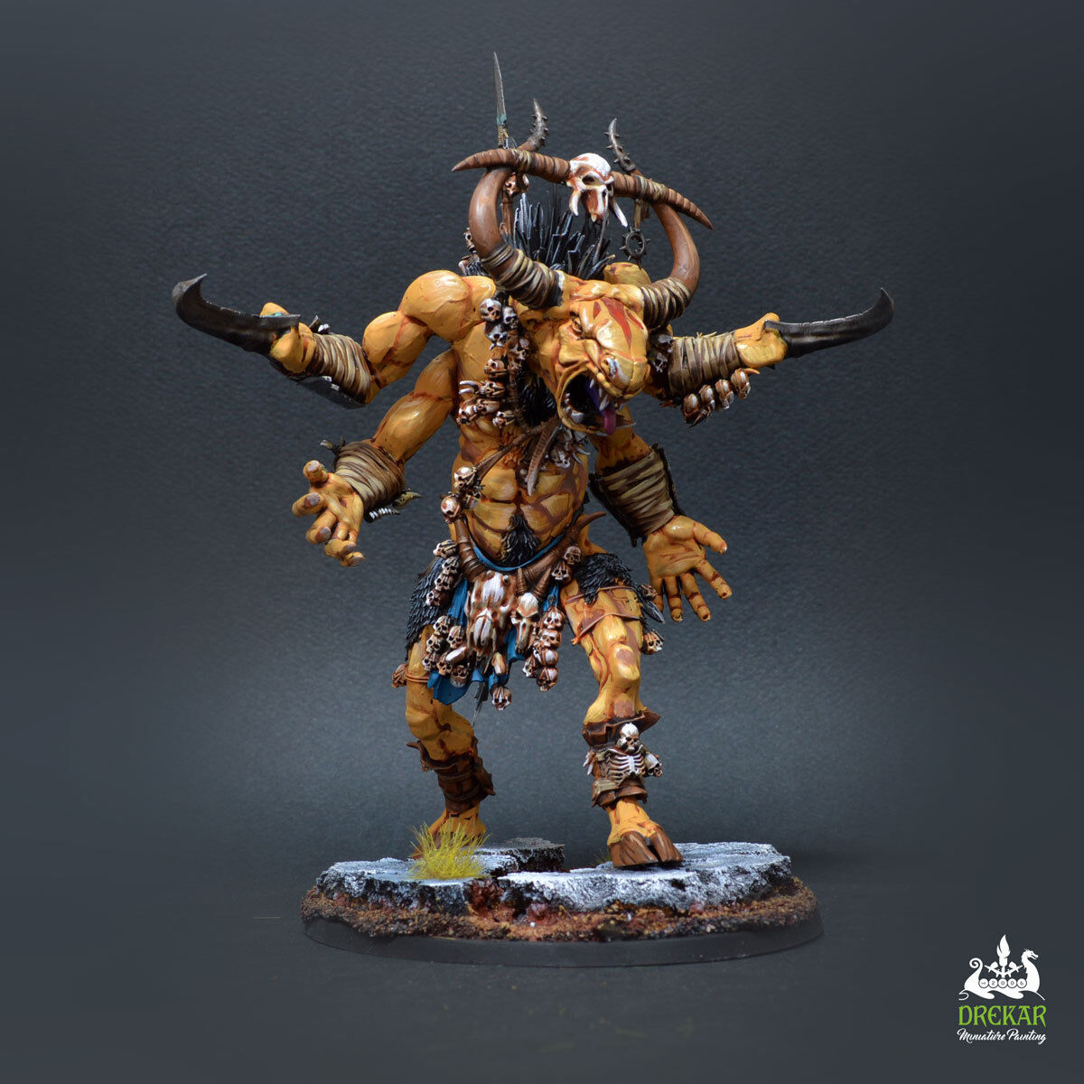 Ghorgon Ghorgon Ghorgon Beast of Chaos Age of sigmar  COMMISSION   painting a89bc2