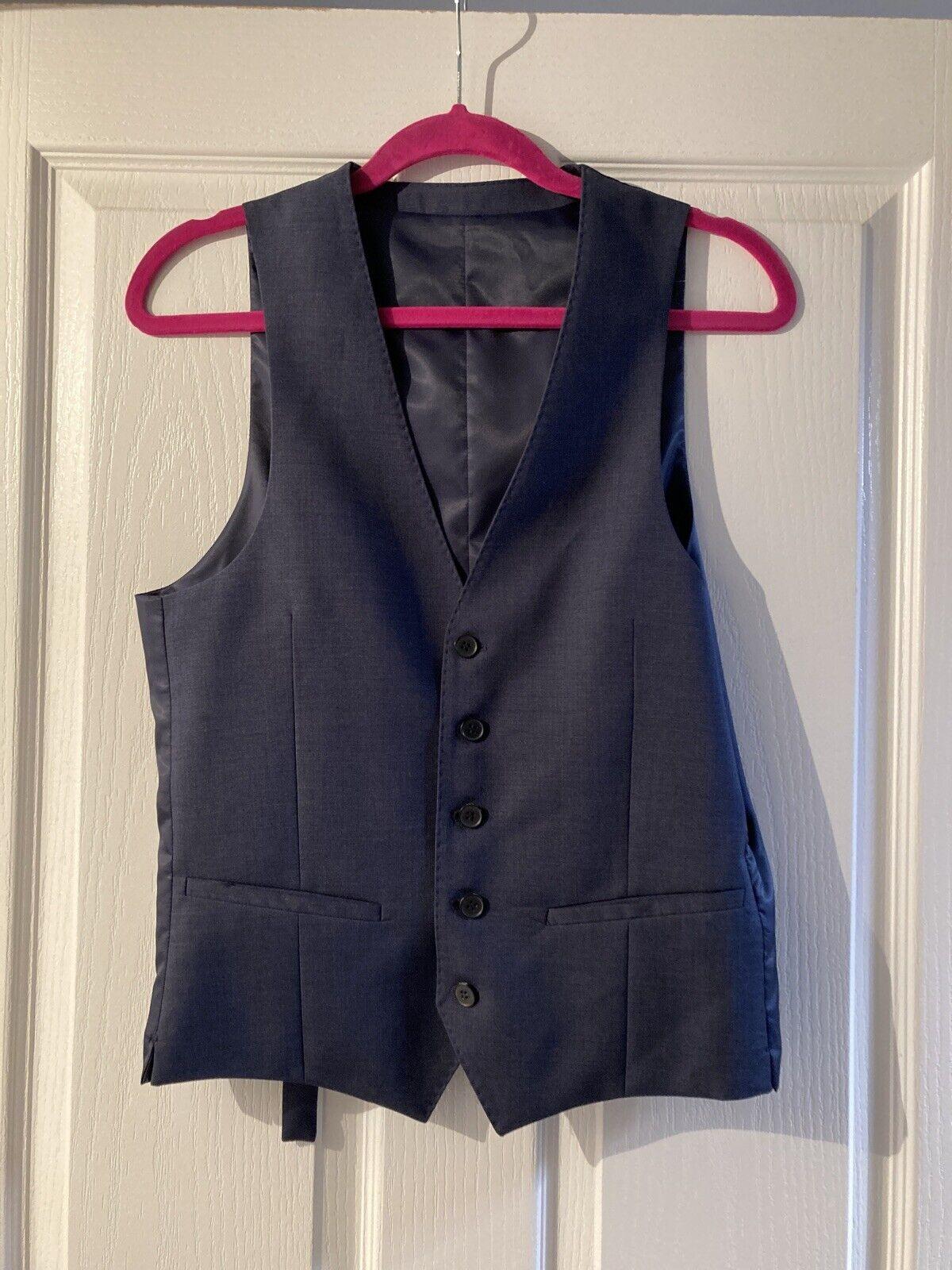 DKNY Navy Blue Waistcoat Size 36R