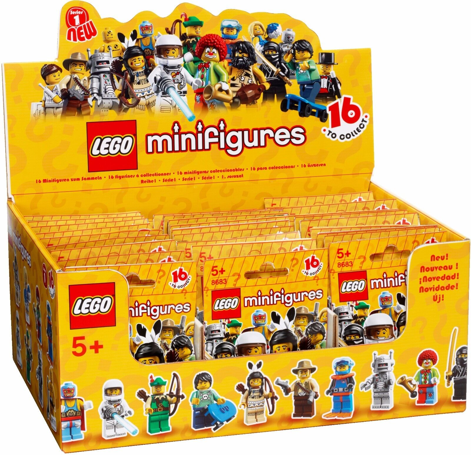 NEW FACTORY SEALED LEGO 8683 Box Case of 60 MINI FIGURINES SÉRIE 1