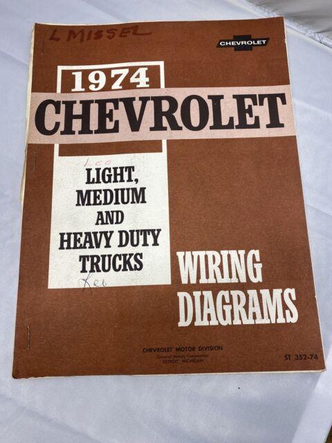 1974 Chevy Light Medium  U0026 Heavy Duty Trucks Wiring