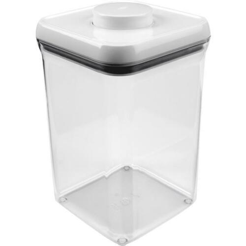 """4-Oxo Good Grips 4 Qt White Plastic 9.3/"""" High Pop Food Storage Container 1071396"""