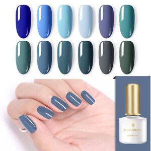 born pretty 6ml nail uv gel polish dusty blue soak off