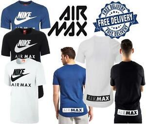 Détails sur Nike Air Max T shirt à encolure ras du cou de Sport Hommes T shirt Pull over slip over Top 3 couleurs afficher le titre d'origine