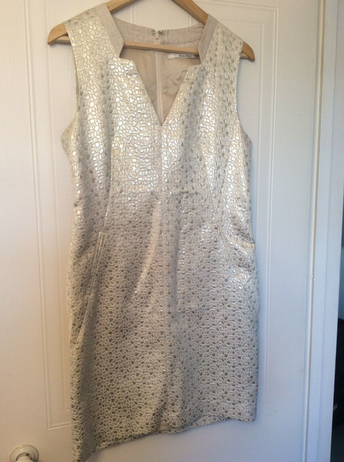 Ladies Dress Part Two Size 12 Cream & gold. Perfect Condition