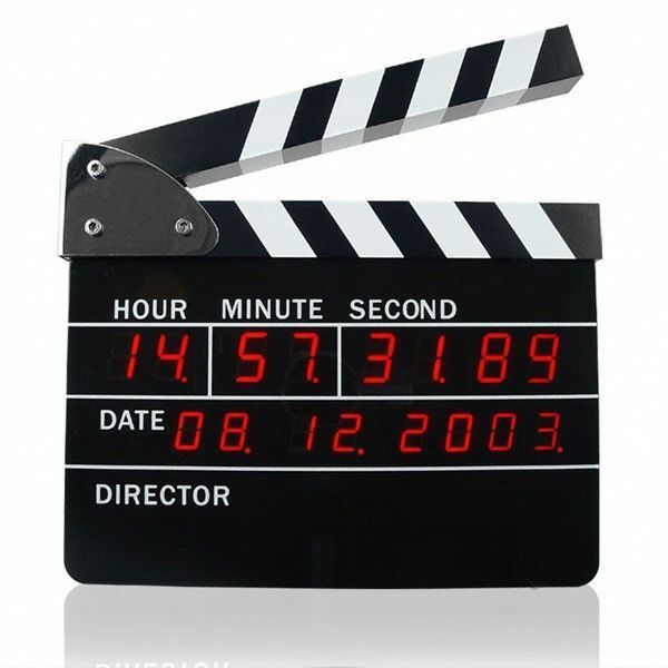 Reloj Despertador Claqueta Director de Cine