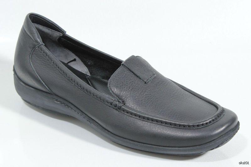Nuevo Sesto Meucci 'Colyer' 'Colyer' 'Colyer' Negros Cuero Mocasines zapatos sin taco Italia increíblemente suave 796017