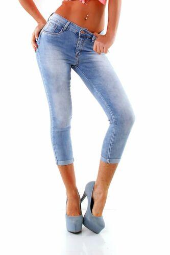 4678 Knackige Damen Jeans Hose Röhre Haremscut Slimline Slimfit Basic