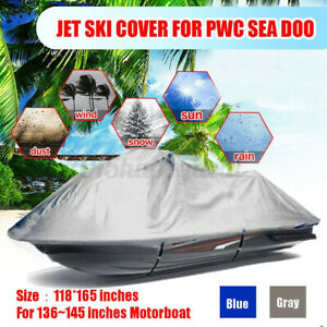 Jet-Ski-Motor-Boat-Cover-Waterproof-Trailerable-jumbo-for-136-145-039-039-PWC-i