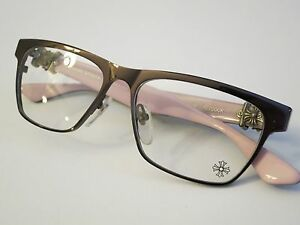 Chrome Hearts PETCOCK Brown Pink Glasses Eyewear Eyeglass ...