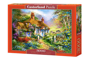 "Brand New Castorland Puzzle 3000 FOREST COTTAGE 36"" x 27"" C-300402"