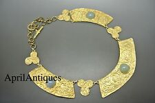 Vintage French museum reproduction of byzantine/ancient green glass necklace
