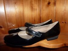 Ladies Clarks Active Air Black Patent Leather Mary Jane Flat Shoes UK 8D