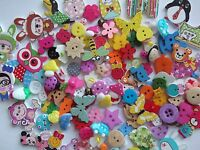 150 Top Quality Assorted Random Mixed Wooden Resin Buttons  Craft