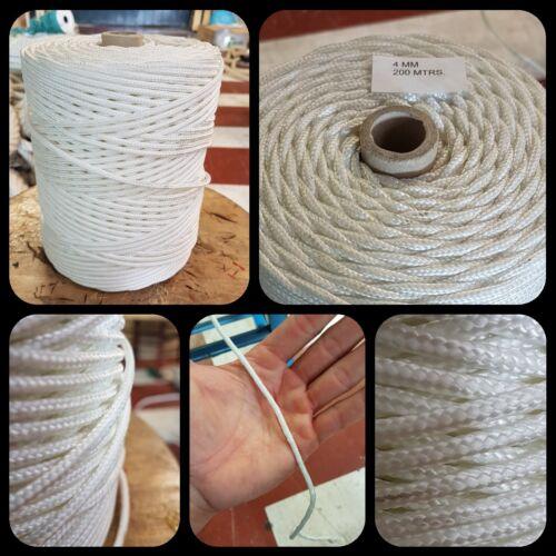 Halyard Cape Seil Reepschnur Nylon Hoch Hartnäckigkeit 4mm X 200metern