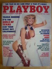 Original Playboy Magazine February 1985 Girls of Texas, Steve Jobs interview