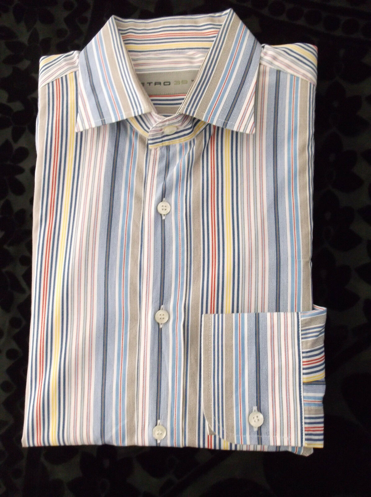 ETRO MILANO  Herren Multicolor Striped Casual Shir Slim Fit Größe  15 1/2  39