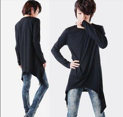 Autumn New Men's Korean Avant-garde Long Sleeve T-shirt Tassels Base Shirts Plus