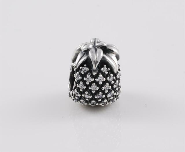 Genuine Authentic Pandora Sterling Silver Pineapple Charm 791293CZ