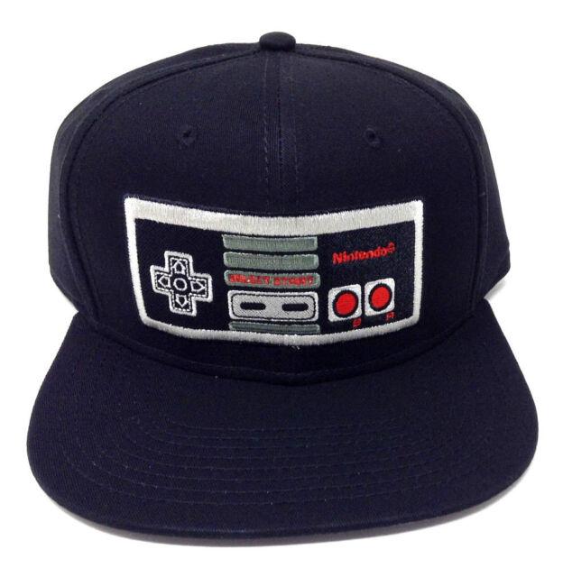 8d5a638dc08 BLACK NINTENDO NES CLASSIC CONTROLLER SNAPBACK HAT CAP SUPER MARIO BROS.  WORLD