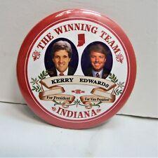 "/""DNC/"" Presidential Campaign Button 2004 John Kerry /& John Edwards 3/"" Pin 03"