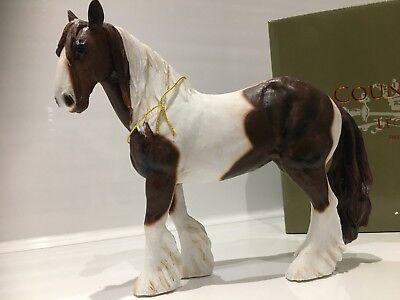 Large Skewbald Gypsy Cob Horse Gift Figurine Ornament Figure