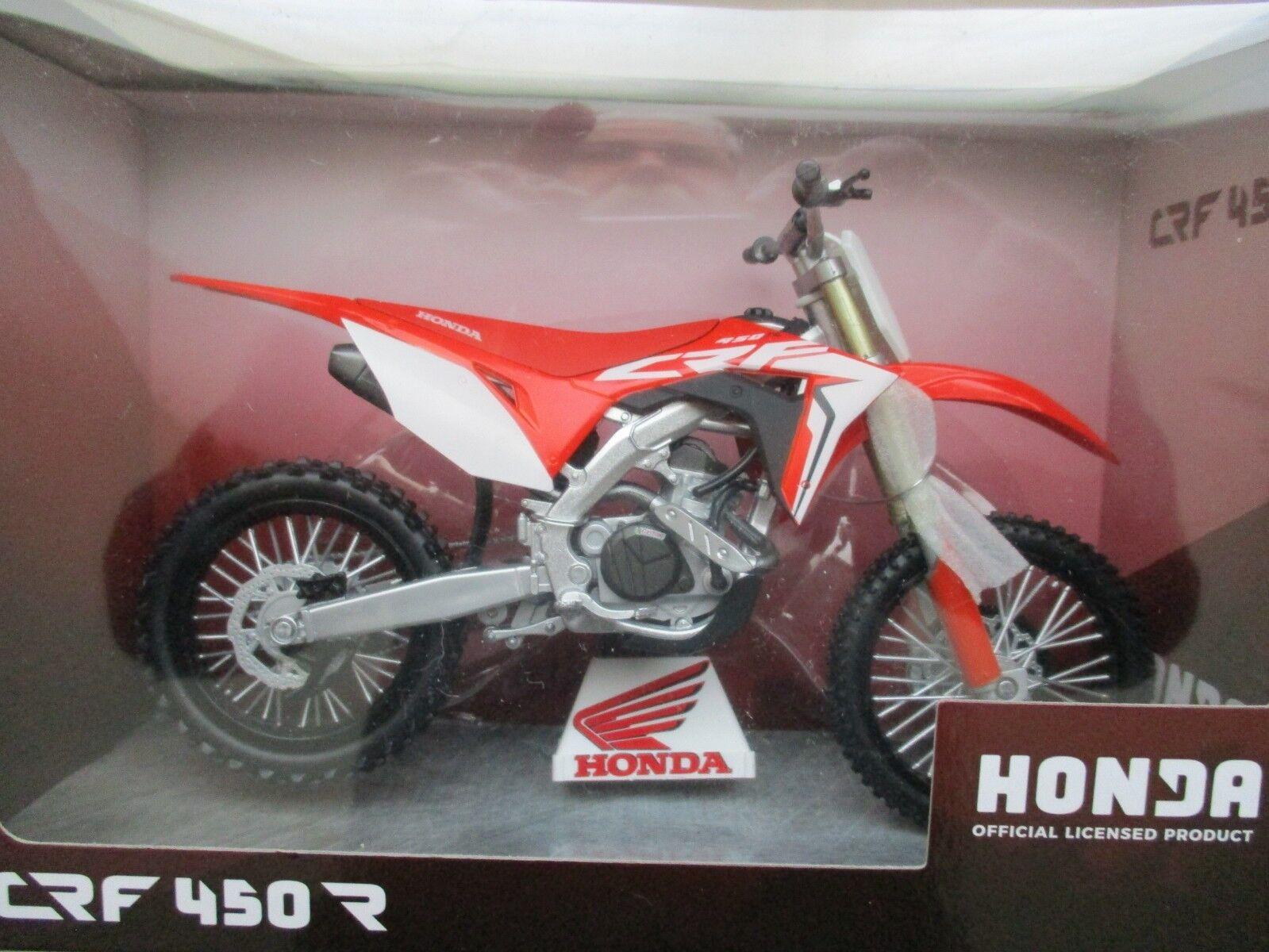 MOTO MINIATURE HONDA CRF 450 R R R 2019 EN BOITE REPRO CONSTRUCTEUR a17d04