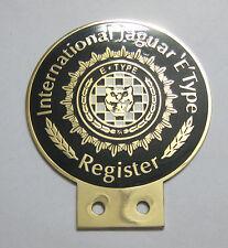 CAR BADGE - INTERNATIONAL JAGUAR E TYPE REGISTER CAR GRILL BADGE EMBLEM MG JAGUA