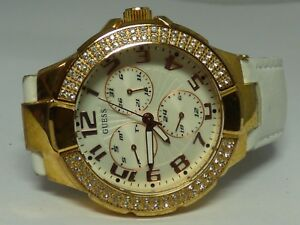 Guess-Women-039-s-Gold-Tone-Watch-W-Leather-Band