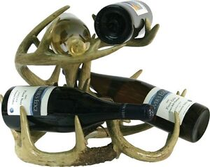 Wine-Rack-Antler-deer-Whitetail-Bottle-Holder-Cabin