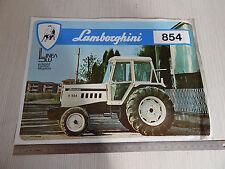 DEPLIANT BROCHURE ORIGINALE TRATTORE TRACTOR LAMBORGHINI 854 R - DT