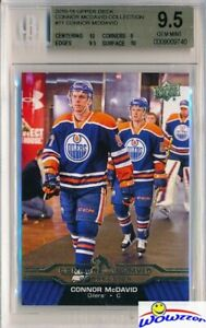 2015-2016-UD-Connor-McDavid-Collection-11-ROOKIE-BGS-9-5-GEM-MINT-Oilers