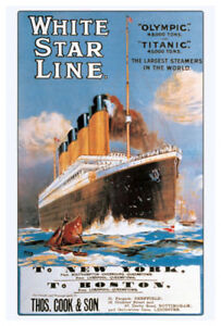 White Star Line RMS TITANIC 1912 Trans-Atlantic Voyage ...