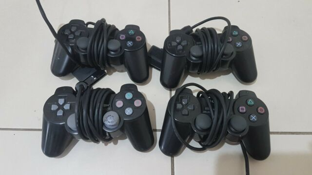4x Sony PlayStation 2 Controllers Ps2 for parts