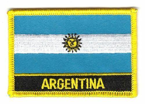 Aufnäher Argentinien Schrift Patch Flagge Fahne