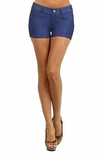 Jegging-Shorts-with-Rhinestones-Womens-Sizes-S-M-M-L-or-L-XL-Sexy