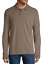 St-John-039-s-Bay-Men-039-s-Long-Sleeve-Taupe-Heather-Size-L-Super-Soft-Polo-Shirt-NWT thumbnail 1