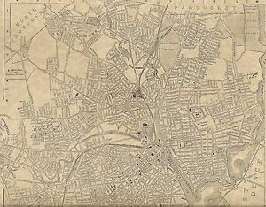 Providence RI 1904 Detailed Street Map with Bonus 1899 and 1910 maps ...