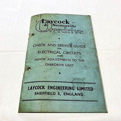 Rare Original Laycock Overdrive Parts Service Manual ...